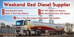 weekend red diesel nationwide fuel supplier