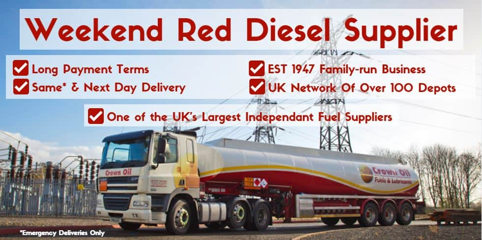 weekend red diesel nationwide fuel supplier